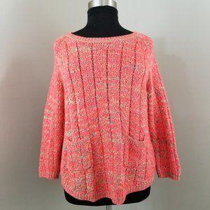 Jacyln  Smith  Pink Multicolor  Knit Sweater: XL